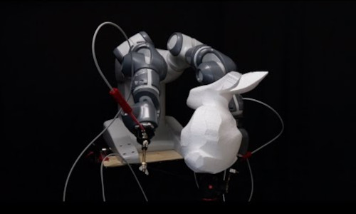Scientists in Switzerland developed a hot-wire cutting robot that guides highly flexible tools extremely precisely.